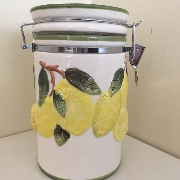 Other - Decorative Lemon Canister